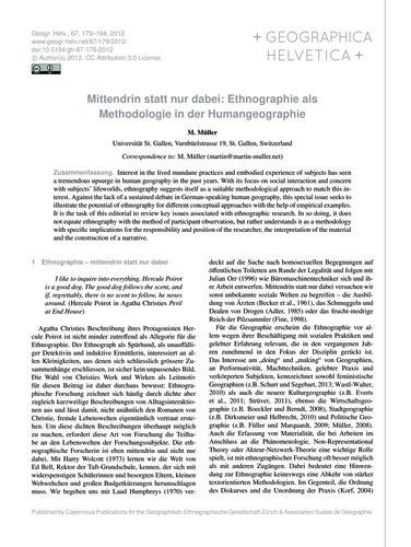 Mittendrin Statt Nur Dabei: Ethnographie... by Müller, M.