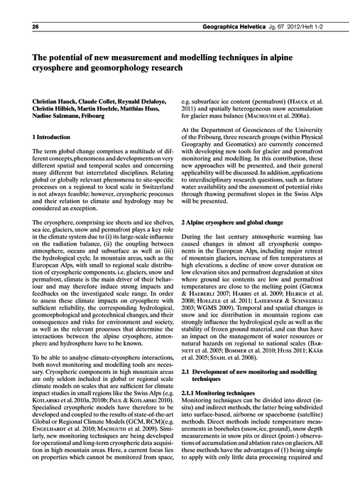 The Potential of New Measurement and Mod... by Hauck, C.