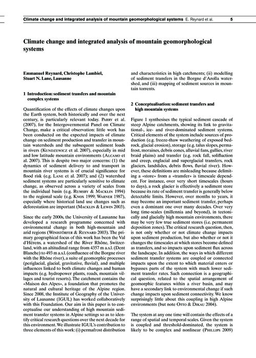 Climate Change and Integrated Analysis o... by Reynard, E.