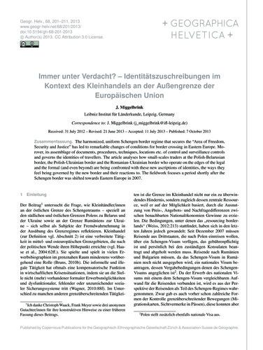 Immer Unter Verdacht? – Identitätszuschr... by Miggelbrink, J.