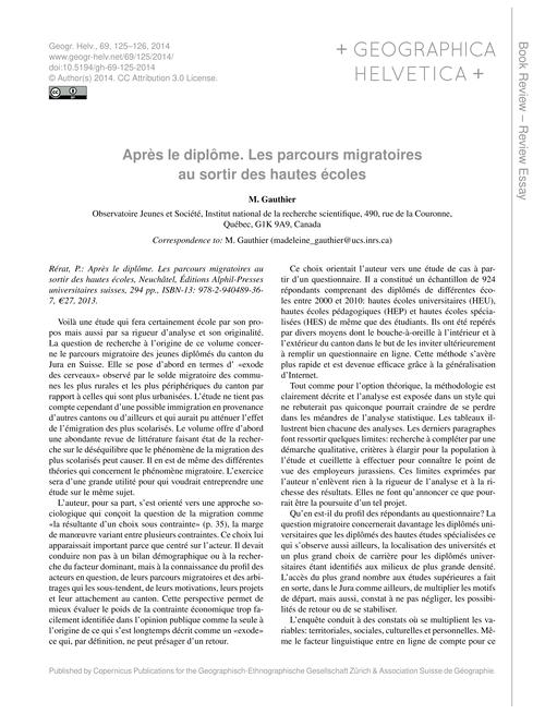 Après Le Diplôme. Les Parcours Migratoir... by Gauthier, M.