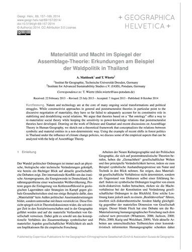 Materialität Und MacHt Im Spiegel Der As... by Mattissek, A.