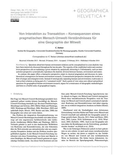 Von Interaktion Zu Transaktion – Konsequ... by Steiner, C.