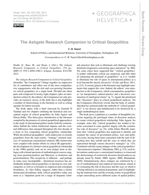 The Ashgate Research Companion to Critic... by Tansel, C. B.