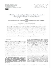Mobility, Multilocality and Translocal D... by Benz, A.