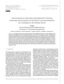 Conventional or Alternative Development?... by Koop, K.