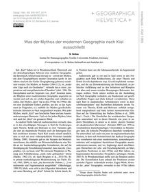 Was Der Mythos Der Modernen Geographie N... by Belina, B.