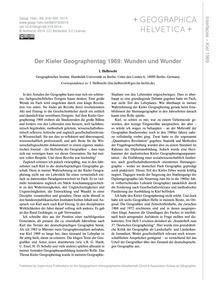 Der Kieler Geographentag 1969: Wunden Un... by Helbrecht, I.