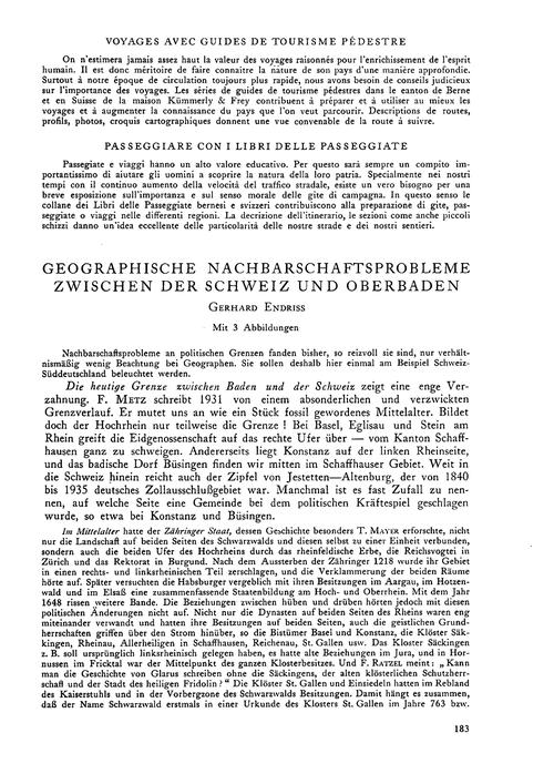 Geographische Nachbarschaftsprobleme Zwi... by Endriss, G.
