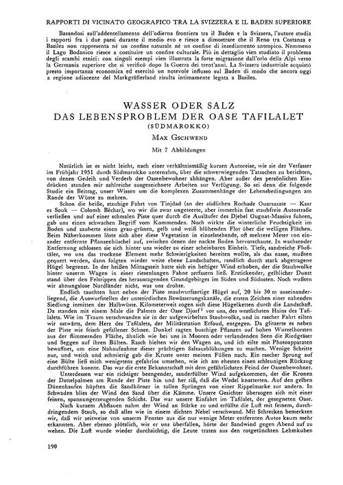 Wasser Oder Salz : Das Lebensproblem Der... by Gschwend, M.