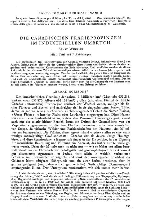 Die Canadischen Prärieprovinzen Im Indus... by Winkler, E.