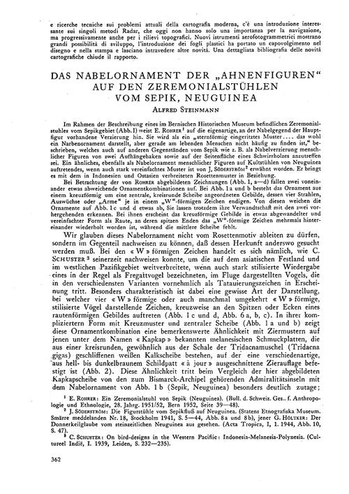 Das Nabelornament Der Ahnenfiguren Auf D... by Steinmann, A.