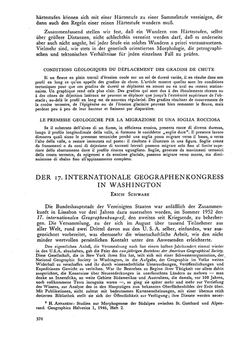 Der 17. Internationale Geographenkongres... by Schwabe, E.