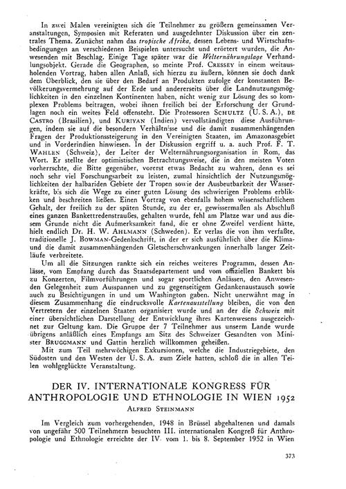 Der IV. Internationale Kongress Für Anth... by Steinmann, A.