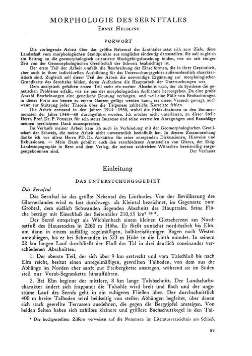 Morphologie Des Sernftales : Volume 7, I... by Helbling, E.