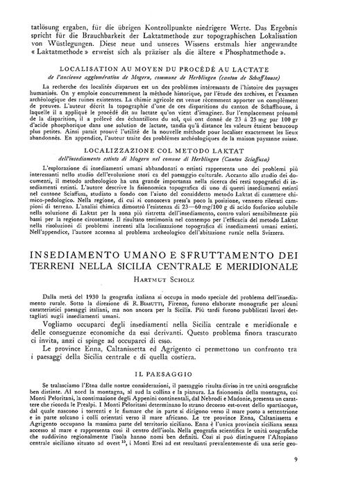 Insediamento Umano E Sfruttamento Dei Te... by Scholz, H.