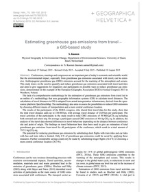 Estimating Greenhouse Gas Emissions from... by Kuonen, S.