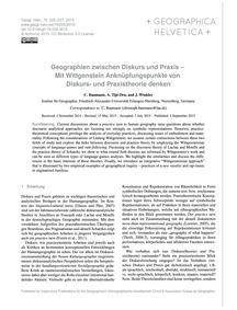 Geographien Zwischen Diskurs Und Praxis ... by Baumann, C.