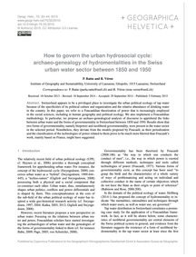 How to Govern the Urban Hydrosocial Cycl... by Rattu, P.
