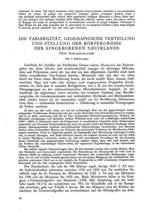 Die Variablität, Geographische Verteilun... by Schlaginhaufen, O.