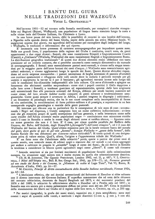 I Bantu Del Giuba Nelle Tradizioni Dei W... by Grottanelli, V. L.