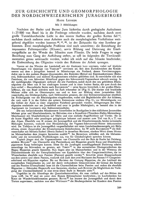 Zur Geschichte Und Geomorphologie Des No... by Liniger, H.