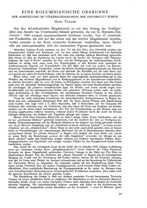 Eine Kolumbianische Graburne : Zur Ausst... by Tanner, H.