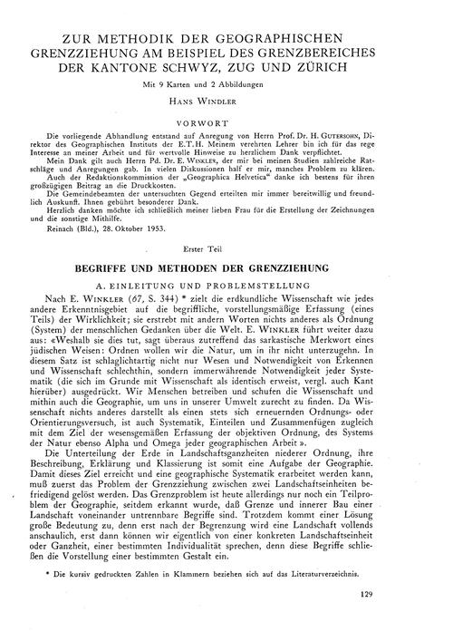 Zur Methodik Der Geographischen Grenzzie... by Windler, H.