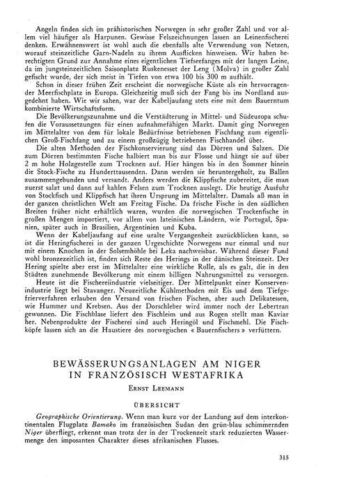 Bewässerungsanlagen Am Niger in Französi... by Leemann, E.