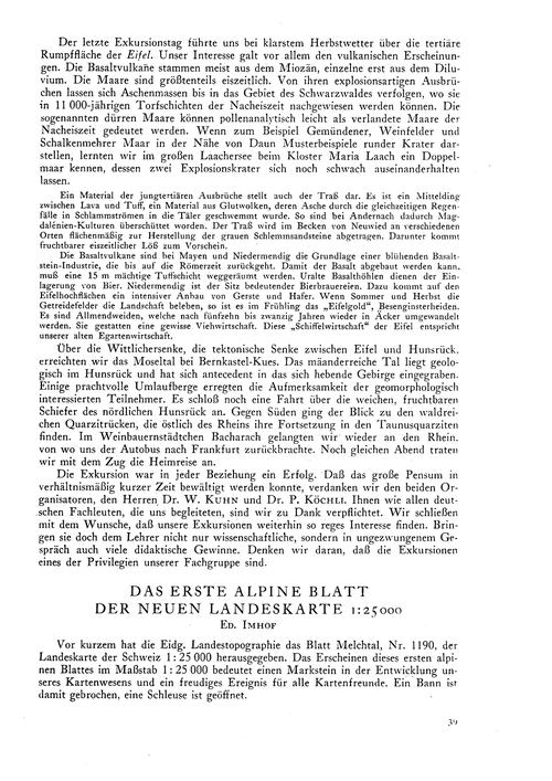 Das Erste Alpine Blatt Der Neuen Landesk... by Imhof, Ed.