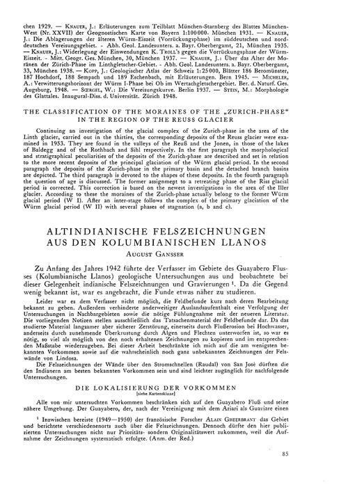 Altindianische Felszeichnungen Aus Den K... by Gansser, A.