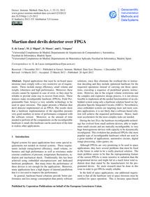 Martian Dust Devils Detector Over Fpga :... by De Lucas, E.