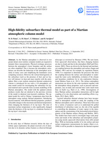 High-fidelity Subsurface Thermal Model a... by Paton, M. D.