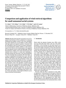 Comparison and Application of Wind Retri... by Bonin, T. A.
