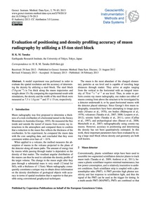 Evaluation of Positioning and Density Pr... by Tanaka, H. K. M.