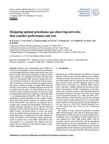 Designing Optimal Greenhouse Gas Observi... by Lucas, D. D.