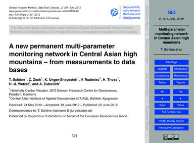 A New Permanent Multi-parameter Monitori... by Schöne, T.