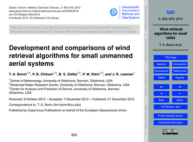 Development and Comparisons of Wind Retr... by Bonin, T. A.