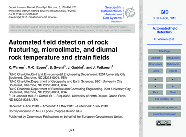 Automated Field Detection of Rock Fractu... by Warren, K.