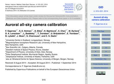 Auroral All-sky Camera Calibration : Vol... by Sigernes, F.