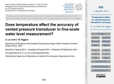 Does Temperature Affect the Accuracy of ... by Liu, Z.