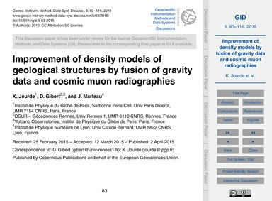 Improvement of Density Models of Geologi... by Jourde, K.