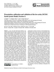 Presentation, Calibration and Validation... by Shaffer, G.