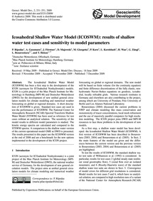 Icosahedral Shallow Water Model (Icoswm)... by Rípodas, P.
