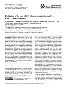 Evaluation of the New Ukca Climate-compo... by Morgenstern, O.