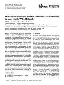 Modelling Sediment Export, Retention and... by Mueller, E. N.
