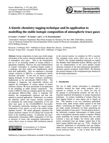 A Kinetic Chemistry Tagging Technique an... by Gromov, S.
