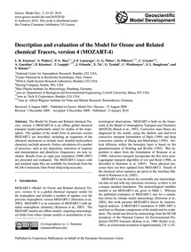 Description and Evaluation of the Model ... by Emmons, L. K.
