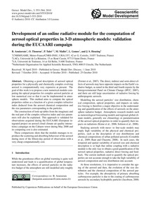 Development of an Online Radiative Modul... by Aouizerats, B.