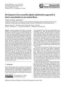 Development of an Ensemble-adjoint Optim... by Ziehn, T.